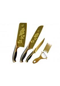 5-in-1 Titanium Rose Gold Kitchen Knife