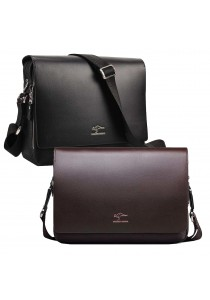 Kangaroo Kingdom 4365 Horizontal Premium PU Leather Messenger Bag
