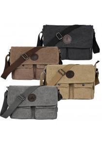 Men's Canvas Casual Messenger Shoulder Bag