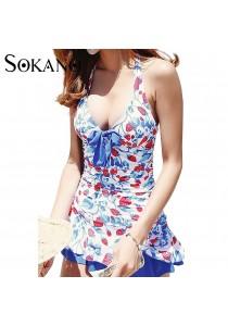 Sokano Trendz Strawberry Design Swim Suit One Piece Set