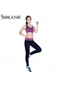SoKaNo Trendz SS02 Yoga Bra And Long Sport Pants- Pink