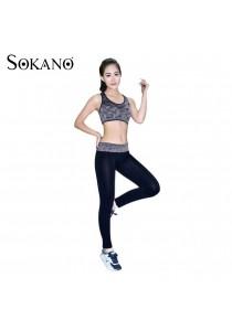 SoKaNo Trendz SS02 Yoga Bra And Long Sport Pants- Black