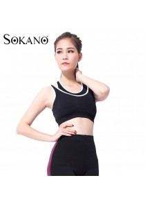 SoKaNo Trendz SKN501 Outdoor and Sport Wireless Padded Bra- Black