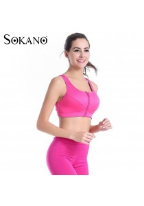 SOKANO Level 4 Support Front Zipped Sport Bra- Pink