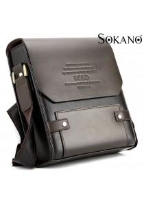 Sokano Trendz Premium Polo Men Messenger Bag (Brown)