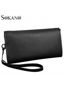 SoKaNo Trendz M006 POLO PU Leather Long Men Wallet (Black)