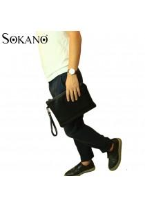 SoKaNo Trendz M002 PU Leather Handy Pouch (Black)