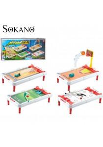 Sokano Action 4-in-1 Board Game (Bowling, Basketball, Golf & Hockey)