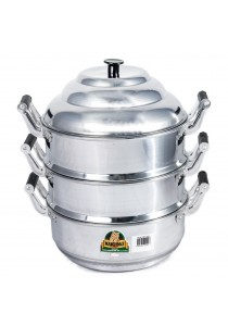 Kuching 3 Layer Aluminium Steam Pot – 22 CM