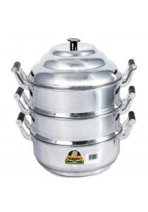 Kuching 3 Layer Aluminum Steam Pot - 28 CM