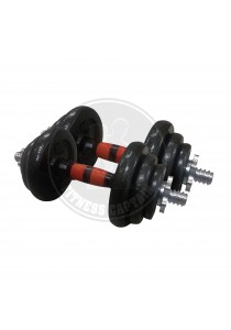 Fitness Gym 30kg Dumbell and Barbell Combo Set