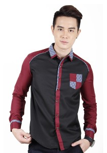 Long Sleeve Slim Fit Shirt (Black)
