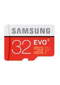 Samsung EVO Plus 16GB 80MB/s MicroSDHC U1 UHS I Memory Card with Adapter