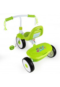 Children Folding Tricycle Trike with Adjustable Seat (2-3 Yrs) - Green