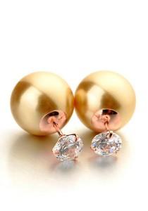 Italina Golden Pearl Earrings