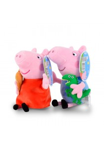 2-In-1 Peppa Pig Family Plush Toy - Peppa & George