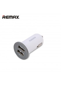 Original Remax Dual Ports 2.1A Car Charger - White
