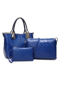 Momorain 3in1 Faux Leather Fashion Bag (Blue)