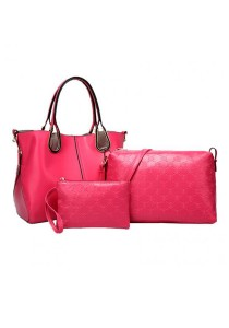 Momorain 3in1 Faux Leather Fashion Bag (Pink)