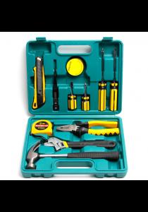American Premium General Emergency Car Tool Set with Plastic Toolbox Storage Case