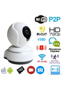 FREE SHIPPING PENINSULAR CCTV Camera With Motion Detection and Night Vision HD 720p P2P WIFI IP