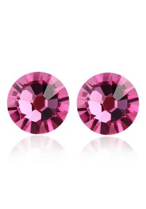 OUXI Pearl Round Stud Earrings (Rose)