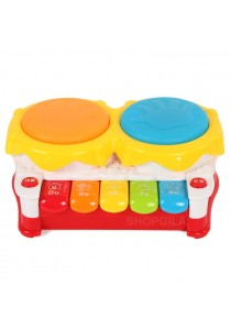 Baby Learning Electronics Multi-Functional Pat Drum with Piano