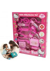Educational Kitty Cartoon Doctor Medical Kit Pretend Playset