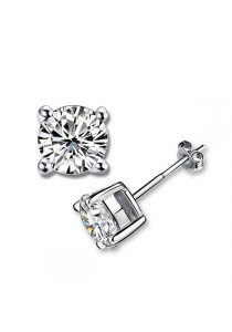 OUXI Diamond Love Stud Earrings