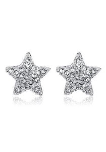 OUXI Crystal Star Earrings