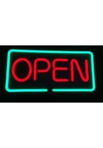 Neon Light Waterproof Sign Board - Open