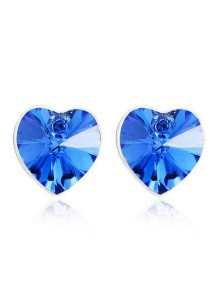 OUXI Heart Shape Stud Earrings