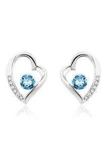 OUXI Love Earrings (Aquamarine)