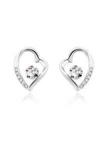 OUXI Love Earrings (Crystal)