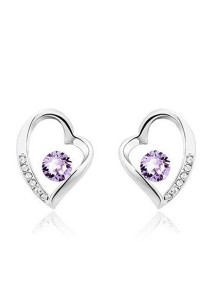 OUXI Love Earrings (Tanzanite)