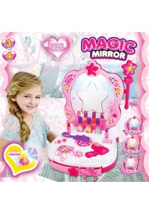 Girl Glamour Mirror Dressing Table with Magic Mirror, Light & Sound