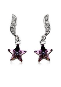 OUXI Wishing Star Earrings (Violet)