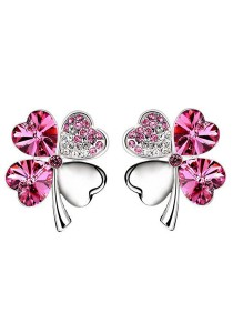 OUXI Four Leaf Clover Earrings (Rose)