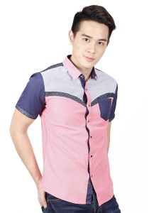 Casual Short Sleeve Shirt (Pink)