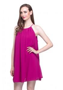 Angel Court Sleeveless Slash Neck Mini Dress AC58-5804