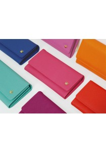 {JMI} Donbook Crown Cross Pattern 2x Smartphone Wallet - Free Zipper Pouch 211# - 10 Colors