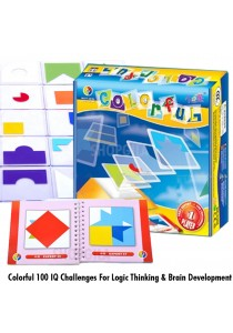 Colorful 100 IQ Challenges For Logic Thinking & Brain Development