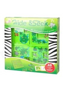 Safari Hide & Seek Puzzle Maze Educational IQ Game with 48 Challanges