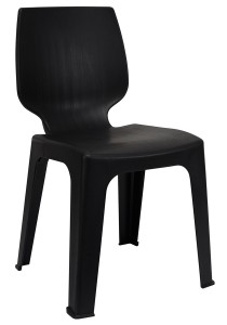 nesthouz.com Optimus D Side Chair in Black Colour