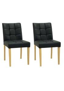 nesthouz.com Davin Dining Chair in Natural/Espresso Colour x 2pcs