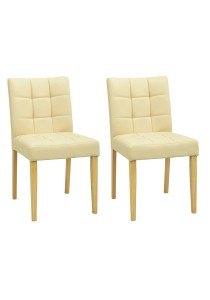 nesthouz.com Davin Dining Chair in Natural/Cream Colour x 2pcs