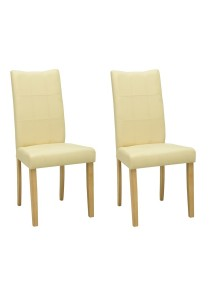 nesthouz.com Lunette Dining Chair in Natural/Cream Colour x 2pcs