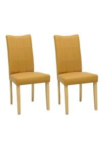 nesthouz.com Lunette Dining Chair in Natural/Caramel Colour x 2pcs