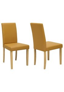 nesthouz.com Lenore Dining Chair in Natural/Caramel Colour x 2pcs