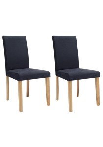 nesthouz.com Lenore Dining Chair in Natural/Night Colour x 2pcs